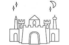 古城堡简笔画图片 古城堡怎么画
