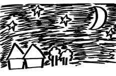 夜晚星空风景简笔画_夜晚星空怎么画