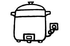 电饭煲物品简笔画图片 电饭煲怎么画