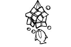 端午粽子食物简笔画图片 粽子简单画法