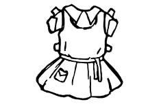 女孩衣服简笔画图片怎么画