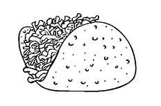 汉堡包食物简笔画图片怎么画