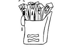 卡通薯条食物简笔画图片 薯条怎么画