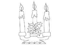 蜡烛物品简笔画步骤图片大全二