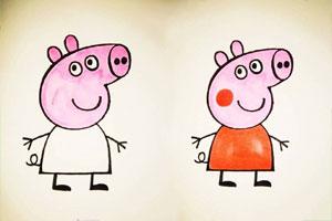 小猪佩奇简笔画步骤图 小猪佩奇怎么画