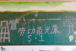 小学生简单的五一劳动节最光荣黑板报图片