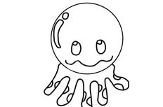 章鱼简笔画步骤图解教程 章鱼怎么画