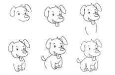 吐舌头的小狗简笔大全 吐舌头的小狗怎么画