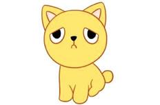 多款小猫简笔画彩色图片 小猫怎么画