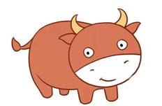 小牛简笔画彩色图片 小牛怎么画