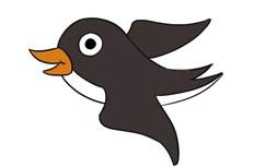 燕子简笔画彩色图片 燕子怎么画
