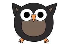 猫头鹰简笔画彩色图片 猫头鹰怎么画