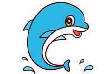 海豚简笔画图片 海豚怎么画