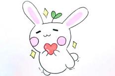 可爱萌卡通兔子简笔画图片怎么画