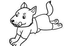 奔跑的小狼狗简笔画图片怎么画