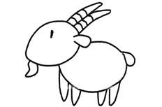 可爱的山羊简笔画图片 山羊怎么画