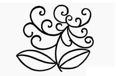 绽开的菊花简笔画图片 菊花怎么画