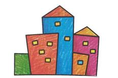 楼房简笔画图片  楼房怎么画