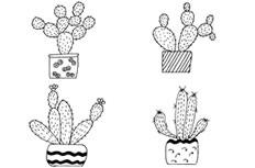 11款仙人掌盆栽简笔画图片 仙人掌盆栽怎么画