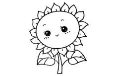 可爱向日葵简笔画图片怎么画
