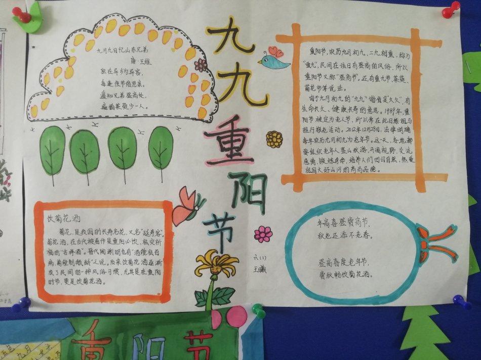 九九重阳节手抄报图片 重阳节的来历