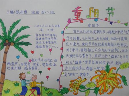 九九重阳节手抄报图片