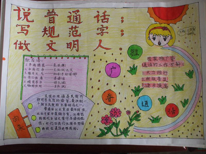 讲普通话写规范字手抄报图片