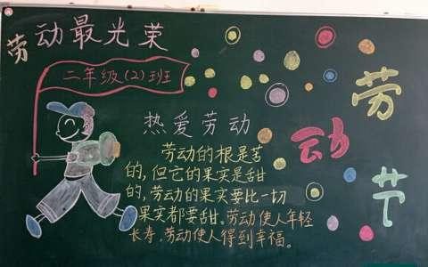 2019热爱劳动黑板报图片
