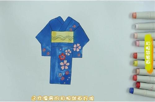 和服简笔画图片 和服怎么画