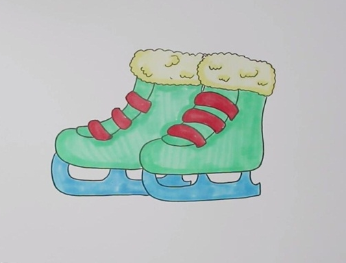溜冰鞋简笔画图片 溜冰鞋怎么画