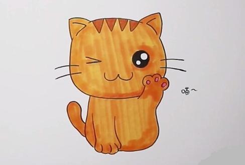 小猫咪简笔画图片 猫怎么画