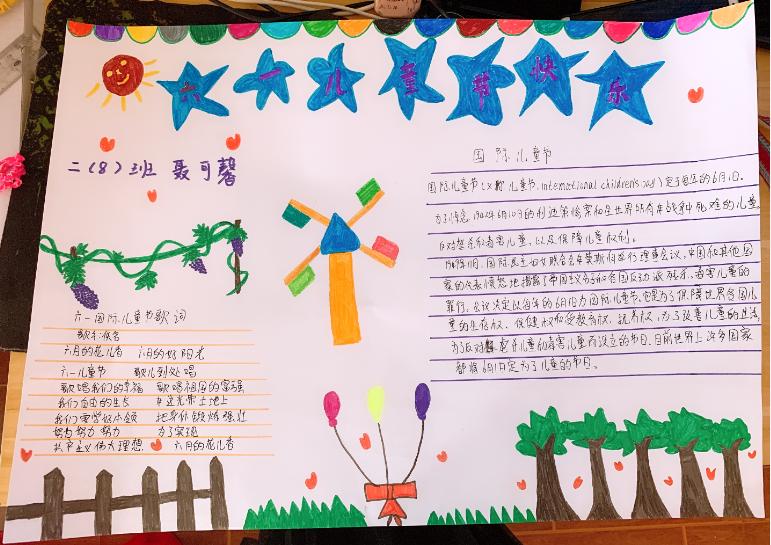 六一儿童节快乐手抄报图片