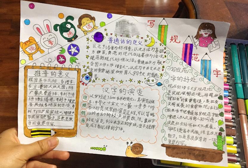 说普通话写规范字手抄报图片
