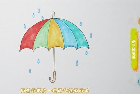雨伞简笔画图片 雨伞怎么画
