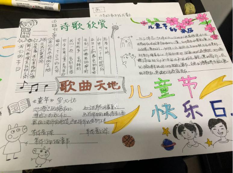6.1儿童节快乐手抄报图片:儿童节的来历