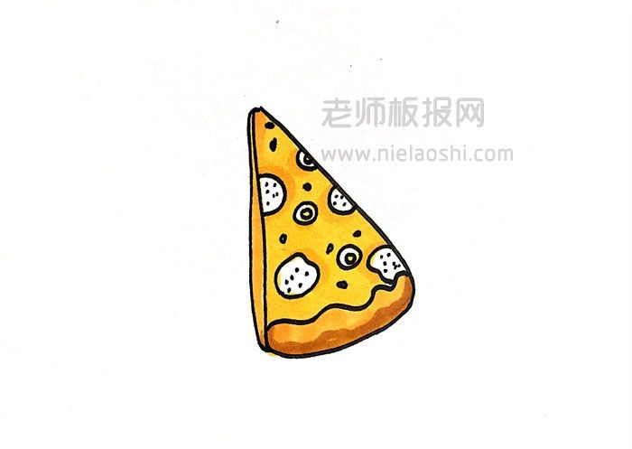 QQ红包披萨简笔画图片 披萨怎么画