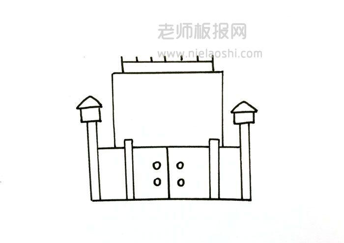 QQ红包监狱简笔画图片 监狱怎么画的