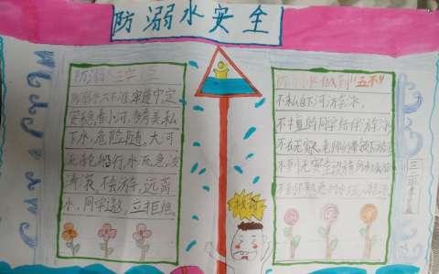 小学生防溺水安全手抄报图片
