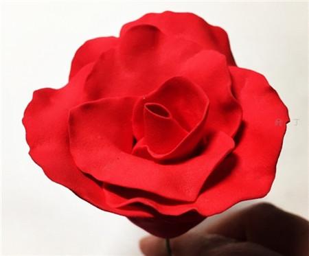 玫瑰花粘土制作方法