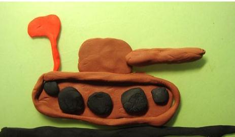 简单的坦克粘土制作方法