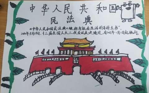 中华人民共和国民法典手抄报图片