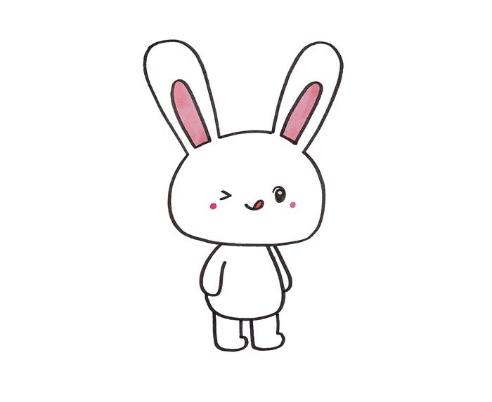 小兔子简笔画图片