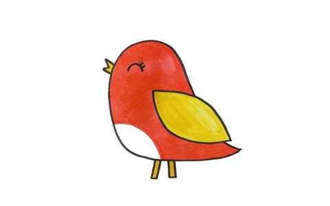 幼儿园小鸟简笔画图片