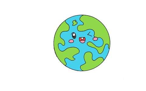 地球简笔画图片