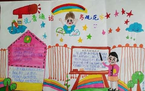 中小学生说普通话写规范字手抄报图片