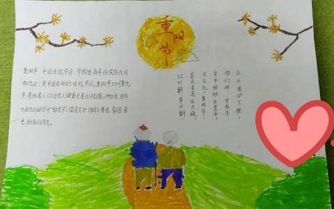 中国传统重阳节手抄报图片