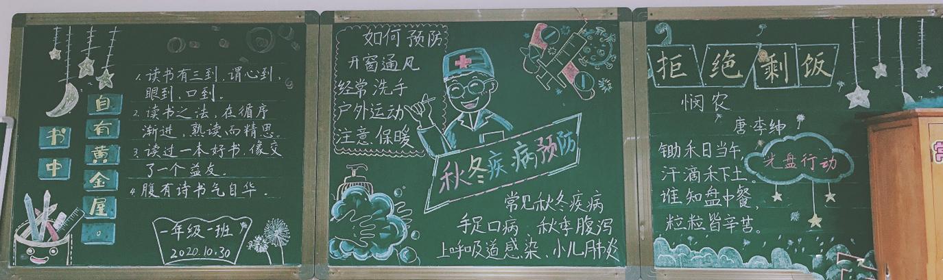 小学生读书黑板报 图片