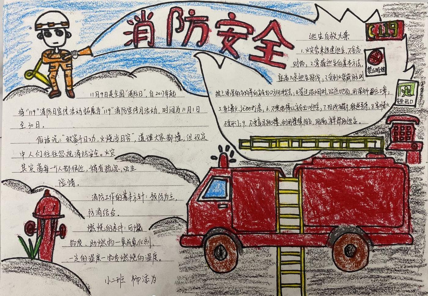 消防安全黑板报图片