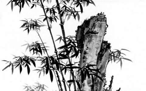 中国国画 四君子竹子