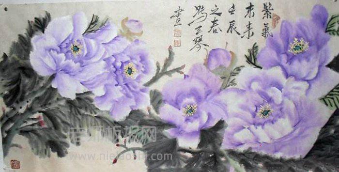 冯玉琴国画牡丹,天香异彩